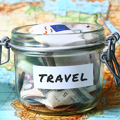 Savings for travel.