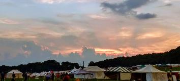 Sunset-over-medieval-camp
