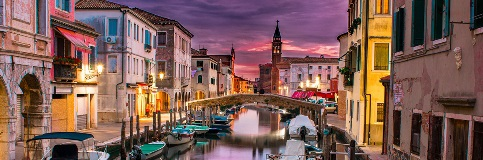 Venice, Italy at sunset.